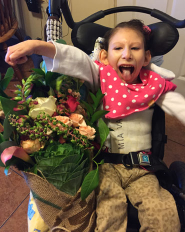 Mia Vasquez, age 8 , has a rare disease called Cockayne's syndrome.(Courtesy of Emelyn Lacayo)