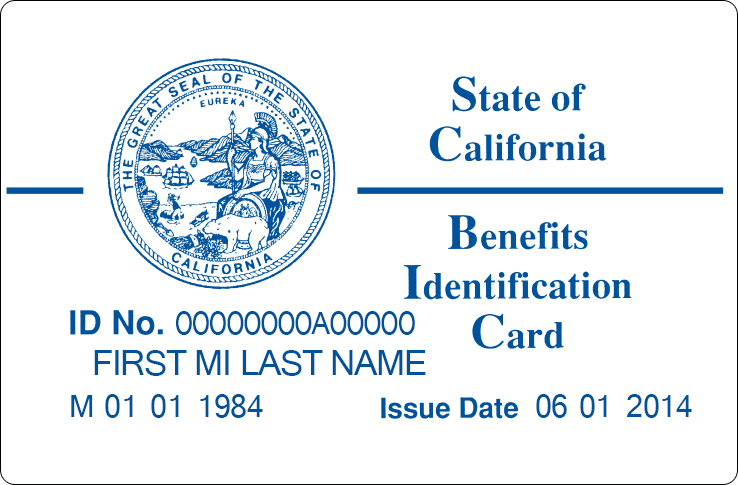 "The current Medi-Cal identification card, which debuted in 1994, marked technological progress because of its magnetic strip, but was intended to be ""government-looking,"" a former state official said. (Courtesy of the California Department of Health Care Services)"