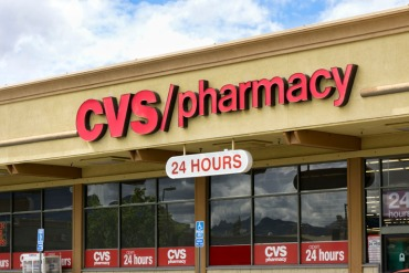 SANTA CLARITA, CA/USA - MARCH 1, 2015: CVS/pharmacy store front and sign. CVS Pharmacy is the second largest pharmacy chain in the United States.