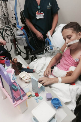 When children can't get out of bed, nurses in the Johns Hopkins pediatric ICU bring them toys from the unit's playroom. It's part of an effort to foster wake-sleep cycles better aligned with how children naturally function. (Courtesy of Sapna Kudchadkar)
