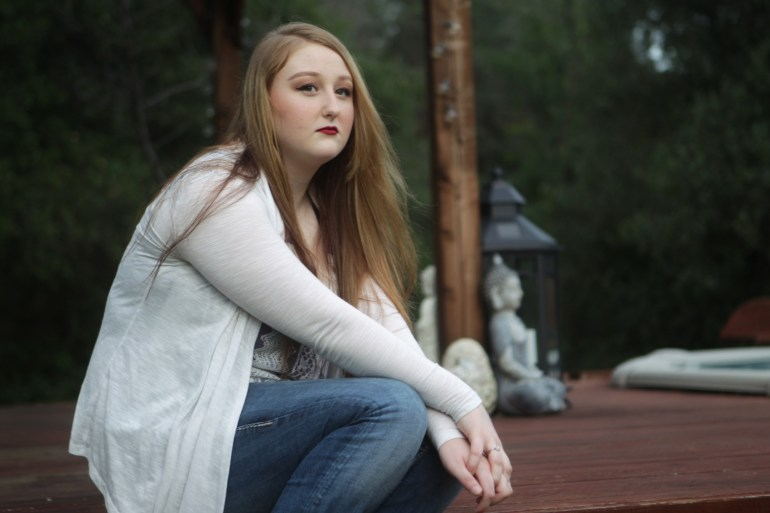 Shariah Vroman-Nagy, 18, attempted suicide three years ago. (Andreas Fuhrmann/KQED)