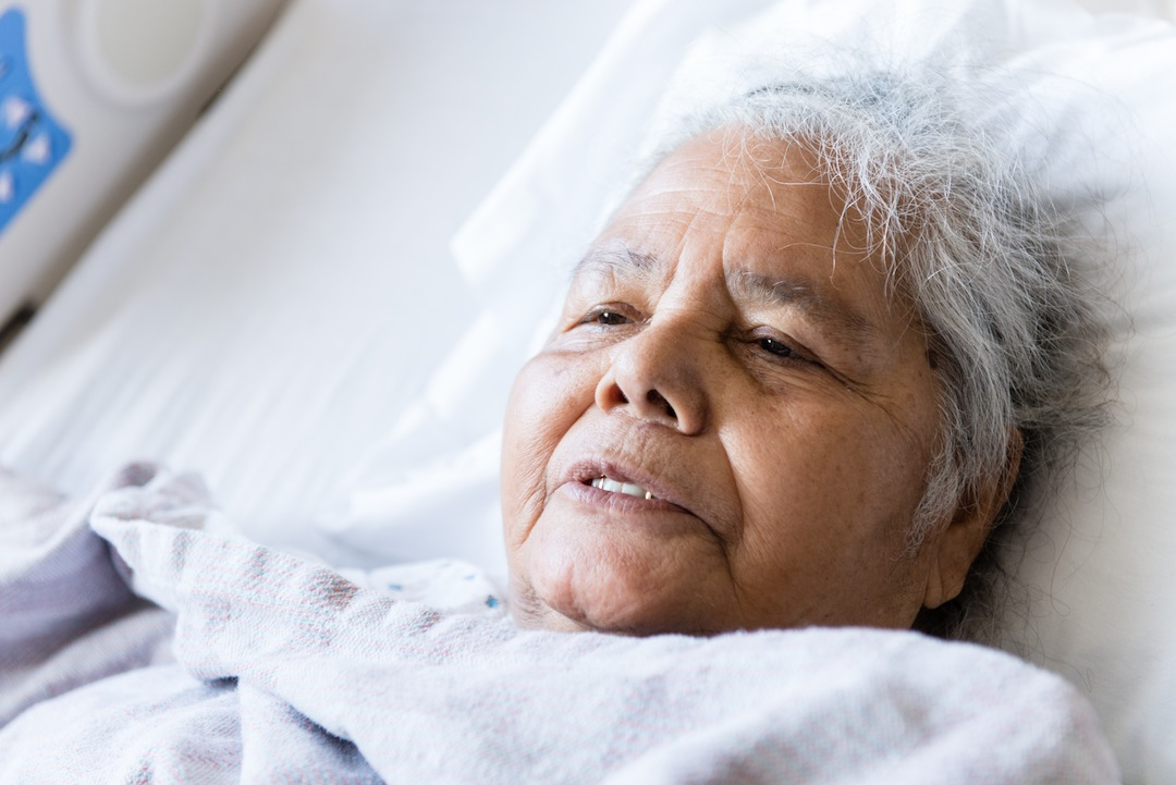 Rosenda Esquivel, 80, was admitted to San Francisco General with intense arthritic pain. (Heidi de Marco/KHN)