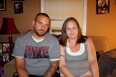 Nate and Angela Turner, of Greenwood, Ind., take the drug Suboxone twice a day to control their cravings for opioids and heroin. Nate says the drug has helped him hold onto his job and stay in counseling as he works to quit his addiction to painkillers. (Jake Harper/Side Effects Public Media)