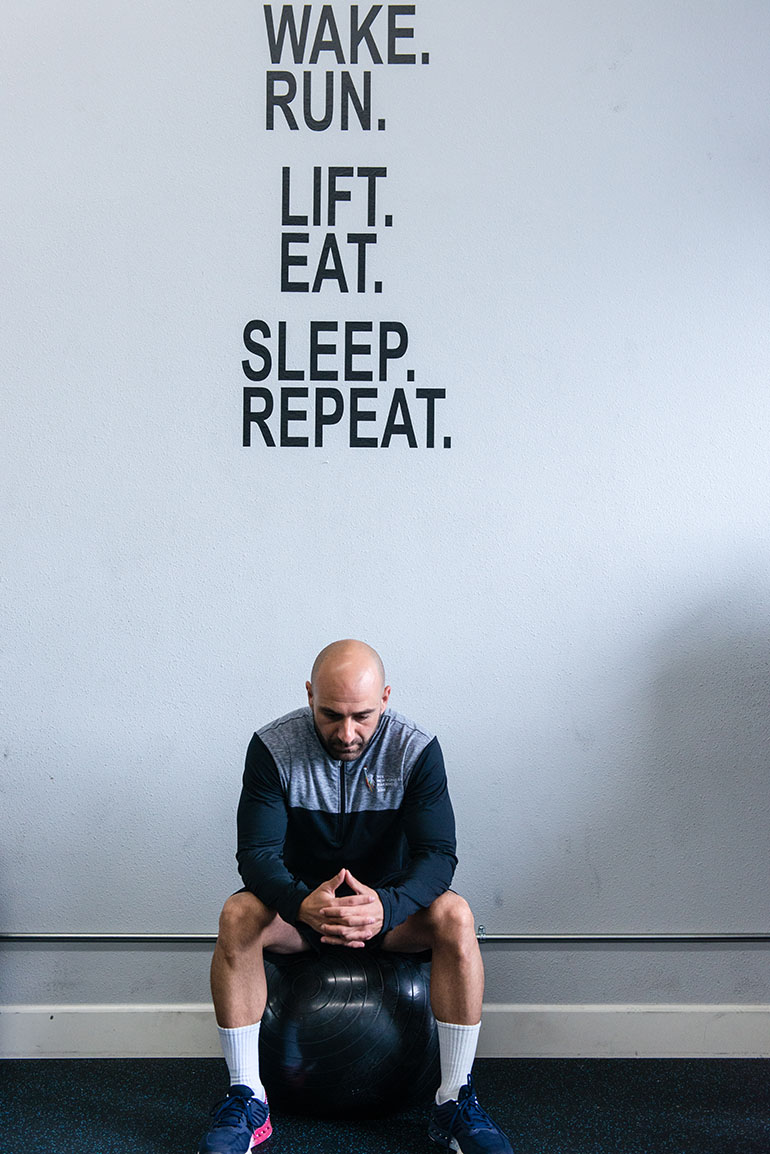 Karakesisoglu, a personal trainer, said he never expected to suffer a stroke at such a young age. (Heidi de Marco/KHN)