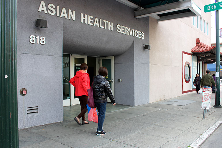 Asian Health Services, located in Oakland's Chinatown, serves about 26,000 medical patients and 6,000 dental patients. Health center officials supported the city's tax on sugary beverages in hopes that revenue collected from the tax will help combat chronic conditions such as obesity, diabetes and tooth decay. (Anna B. Ibarra/California Healthline)