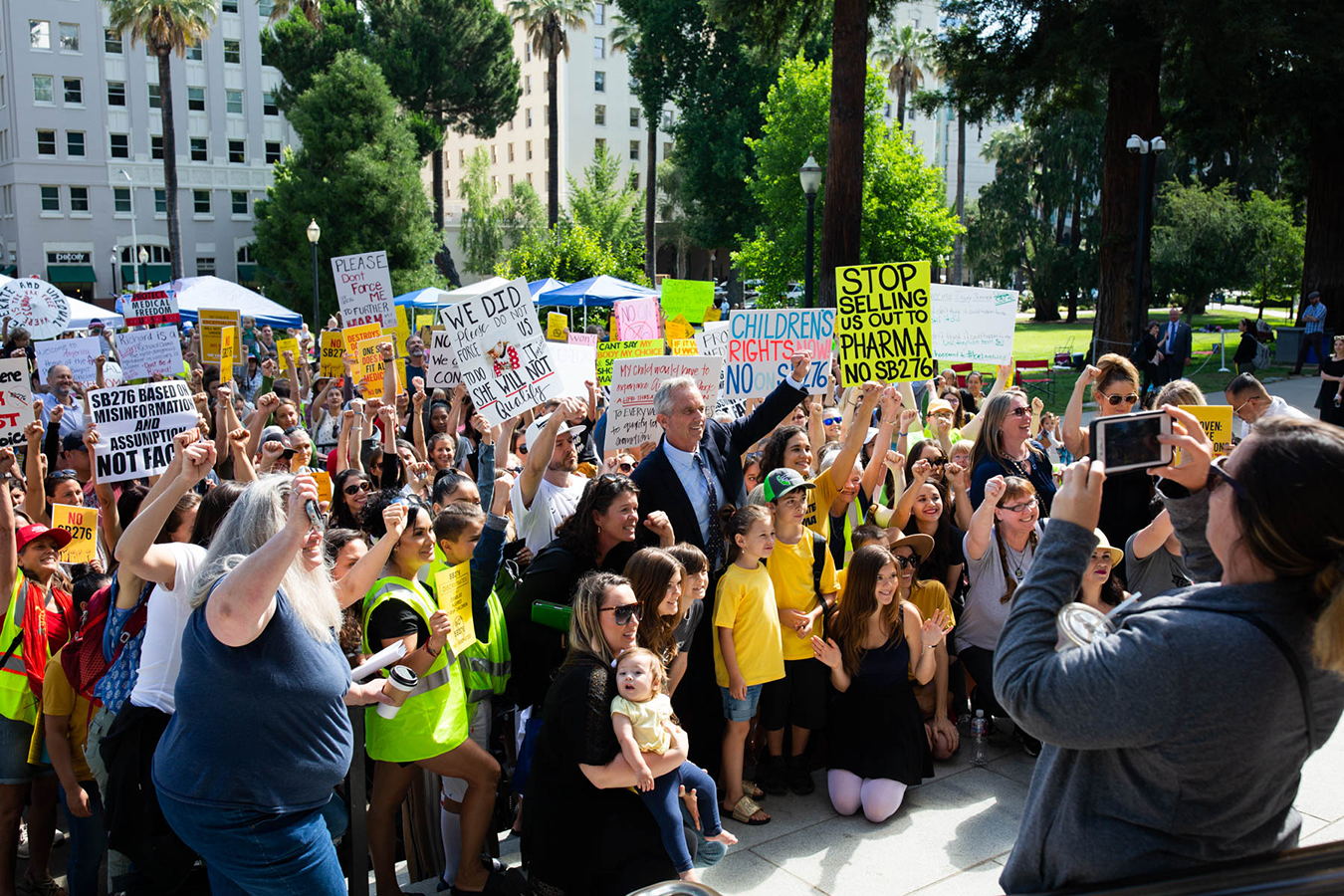 Vaccine Drama On Display In California's Capitol ...