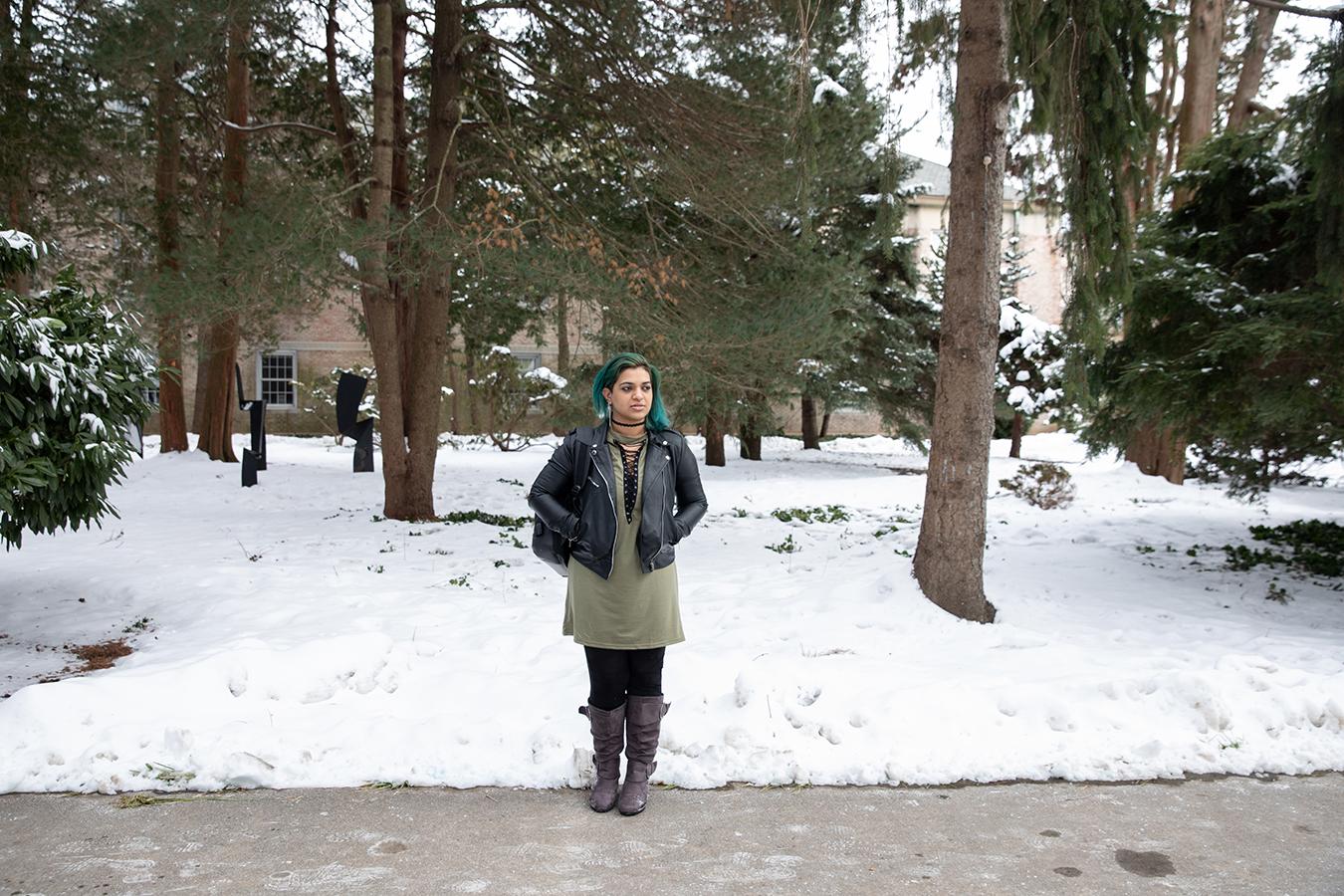 Portrait of Divya Singh at Hofstra University in Hempstead, New York