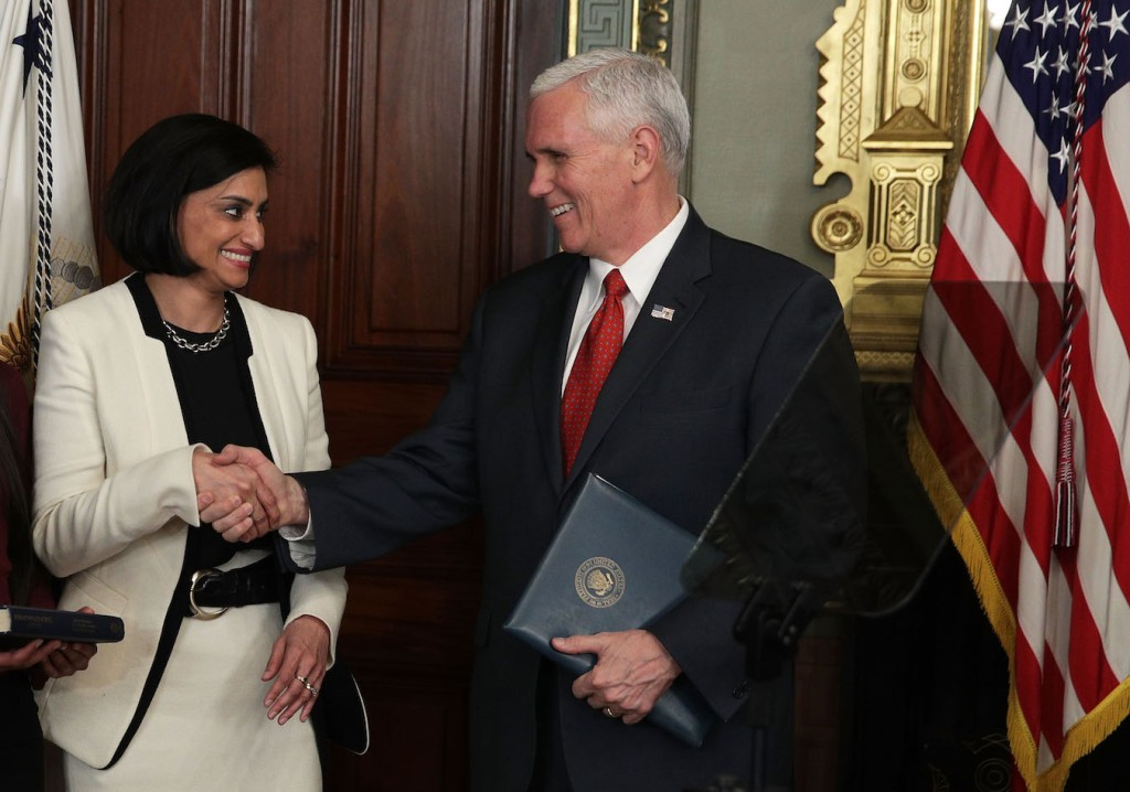 Mike Pence Swears In Seema Verma As CMS Administrator