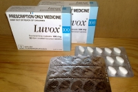Boxes and blister packs of Luvox pills