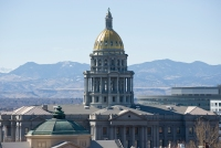 Denver State Capitol Building with Mountain View
