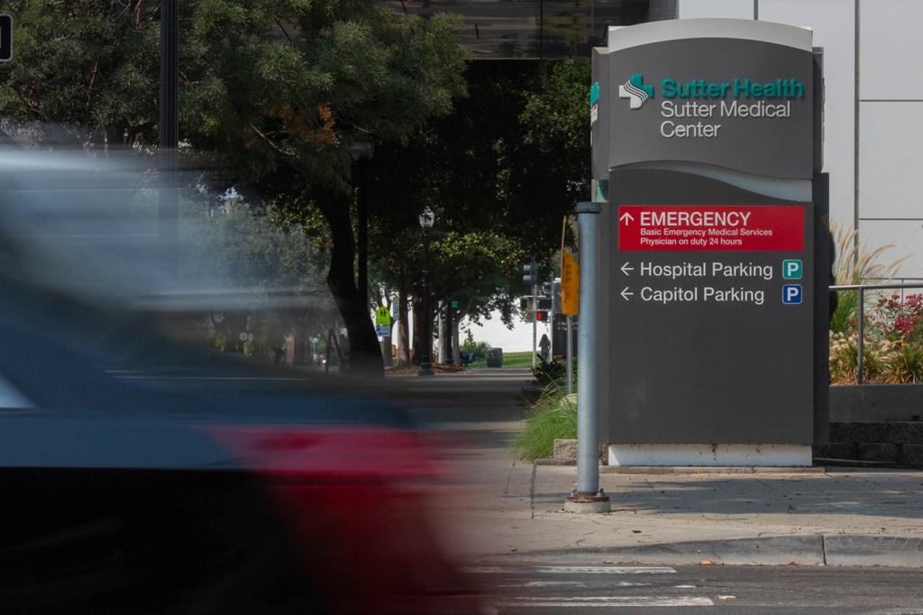 Signage at Sutter Medical Center in Sacramento